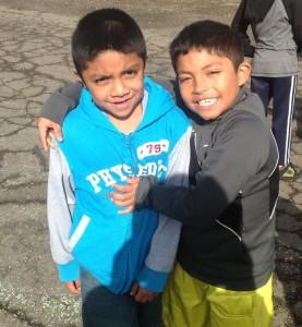 2nd grade friends on playground
