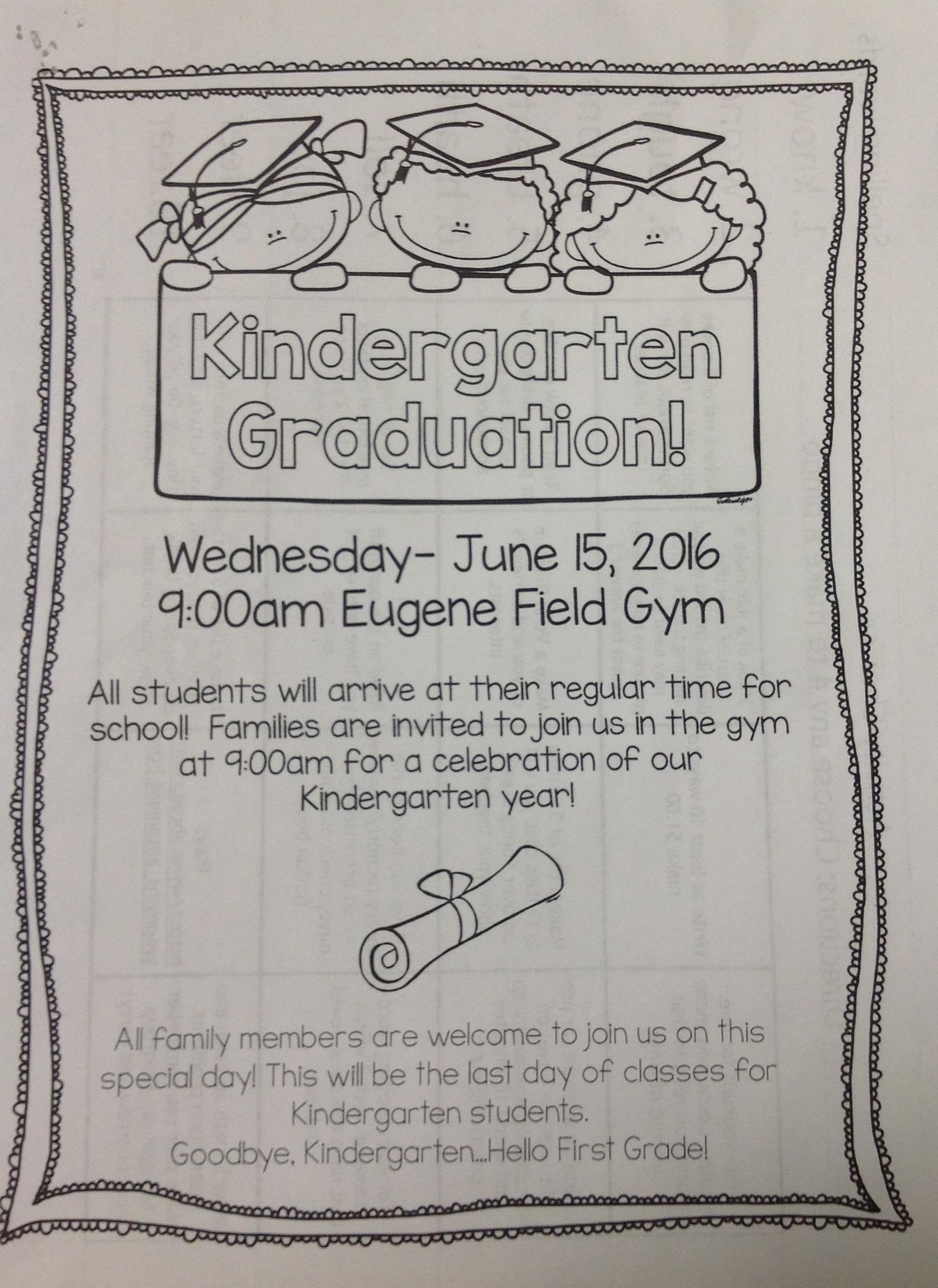 Kindergarten Reminder